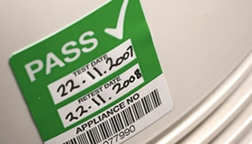 electrical test pass sticker